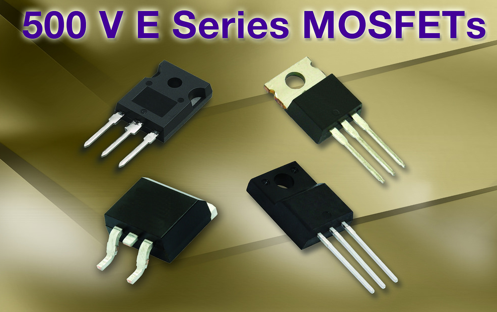 Vishay's latest 500V high-voltage MOSFETs built on Gen II Super Junction tech