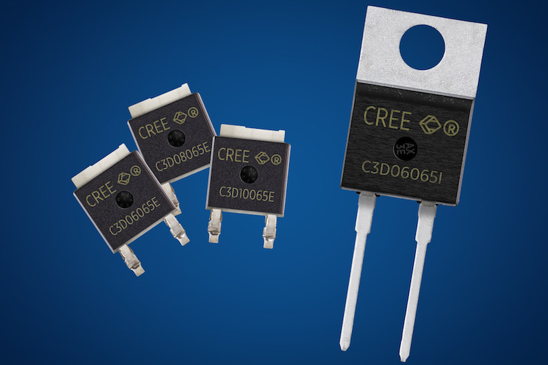 Cree releases four 650V SiC Schottky diodes