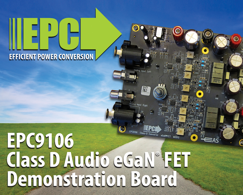 EPC introduces GaN-based Class D audio demo board