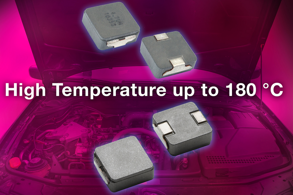 Vishay Intertechnology's low-profile automotive high-current inductor operates to +180°C