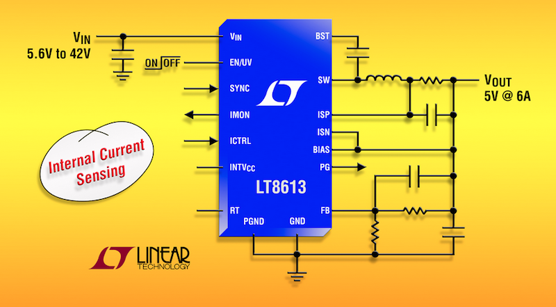Linear's latest synchronous step-down regulator offers integrated current sensing