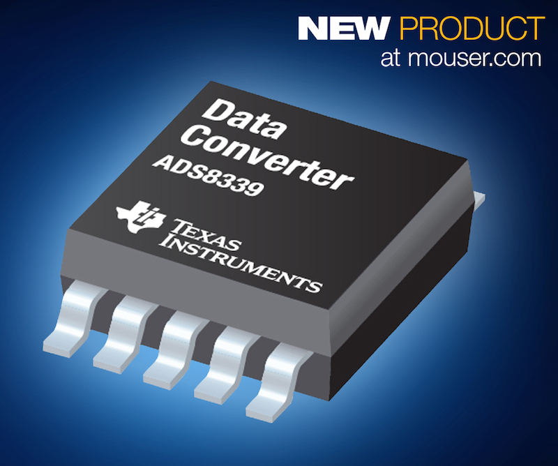 Texas Instruments' 16-bit ADS8339 low-power ADC now at Mouser