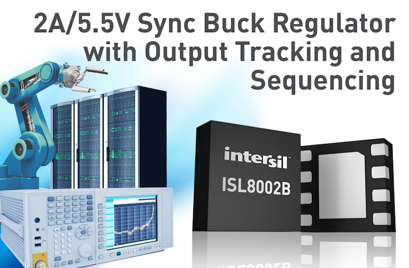 Intersil's ISL8002B synchronous buck regulator offers output tracking and sequencing