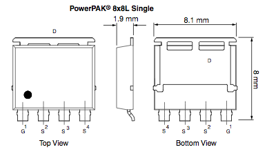 Vishay's PowerPAK 8x8L 200A package offers space- and power-saving alternative to D2PAK and DPAK