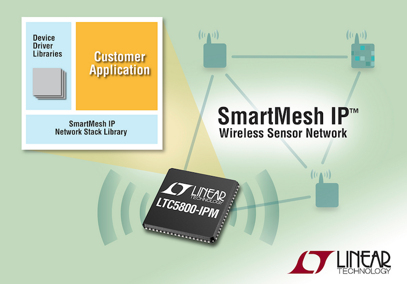 Linear's software devkit for SmartMesh IP accelerates development of wireless sensor Industrial IoT