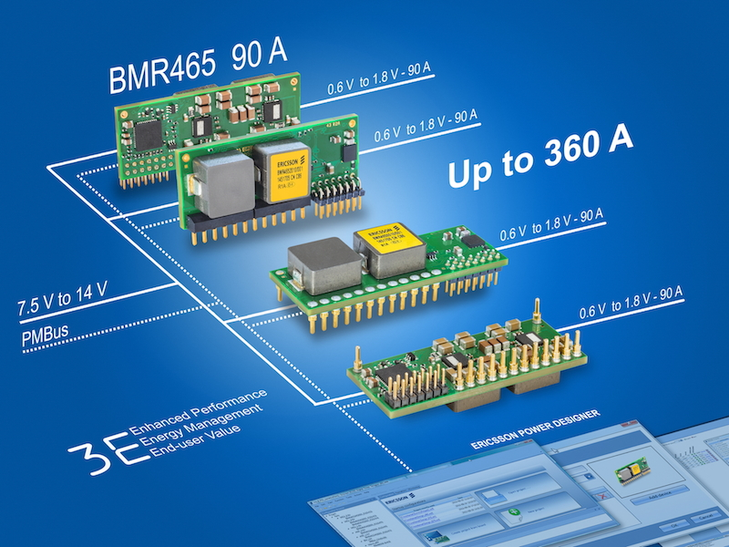 Ericsson's 90A digital PoL DC/DC converter suits high-demand networking equipment