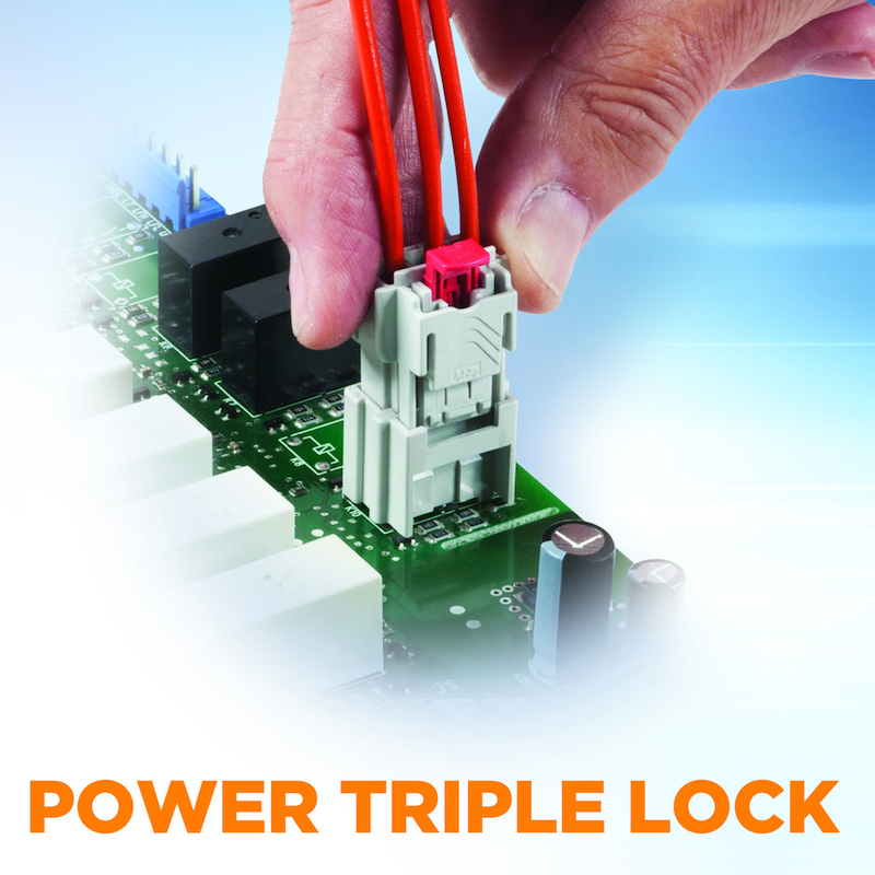TE Connectivity adds wire-to-board headers to Its Power Triple Lock connector family