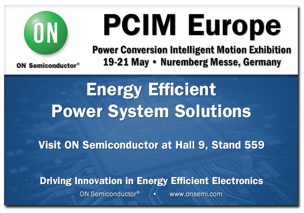 ON Semiconductor to showcase their latest tech at PCIM 2015