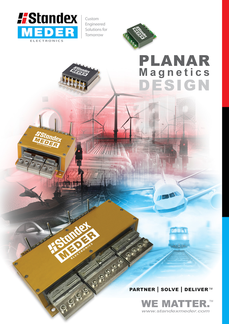 Standex-Meder Electronics offers planar magnetics design guide