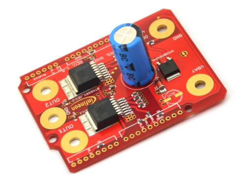 Infineon DC motor control shield for Arduino now at Newark element14