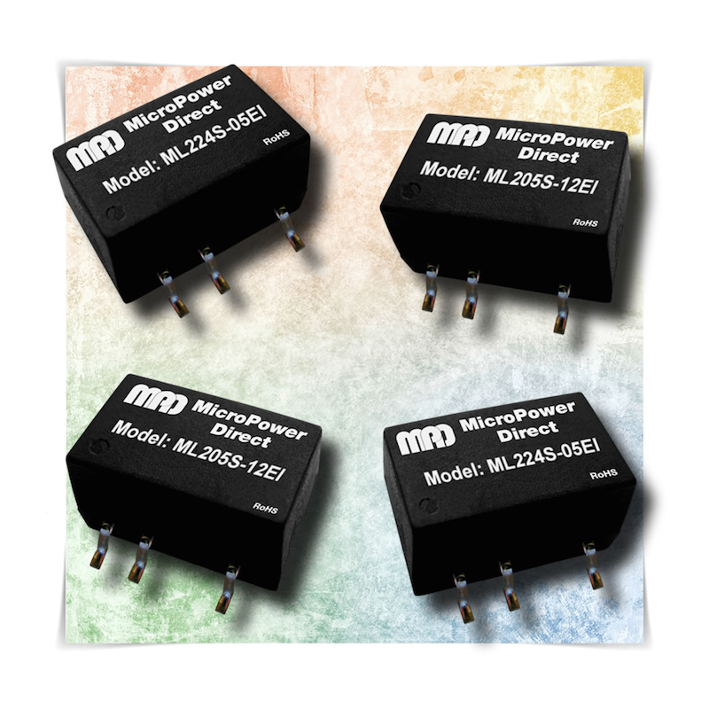 MicroPower Direct offers high-isolation 2W SMT DC/DC converters
