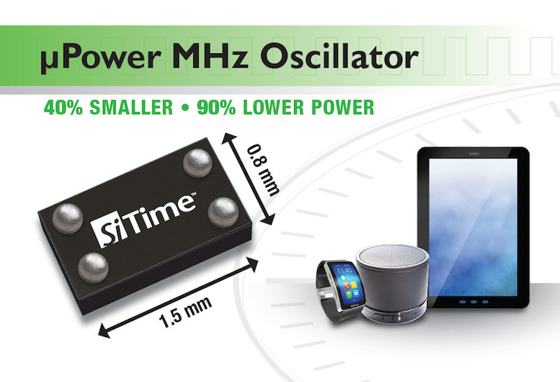 SiTime offer ÂμPower MEMS oscillator family for wearables, IoT and mobile