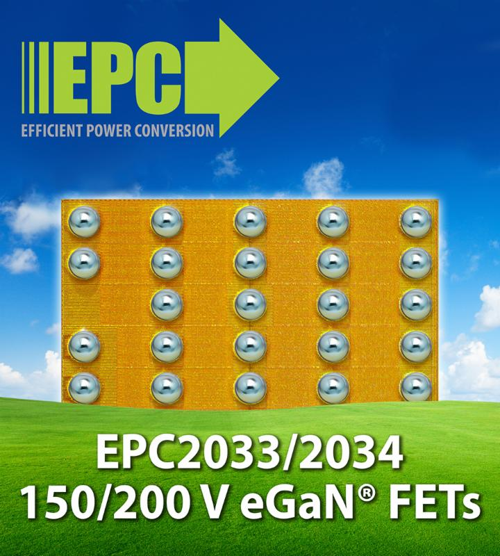 EPC unveils 7m� 200V, and 5m� 150V GaN power transistors