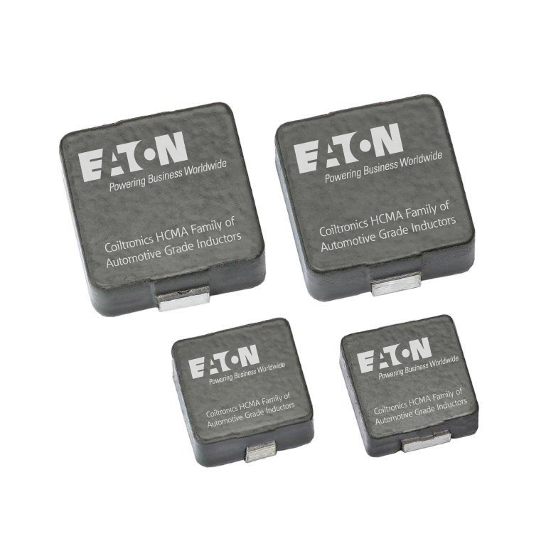 Eaton's automotive-grade Coiltronics HCMA Series high-current power inductors enhances system reliability