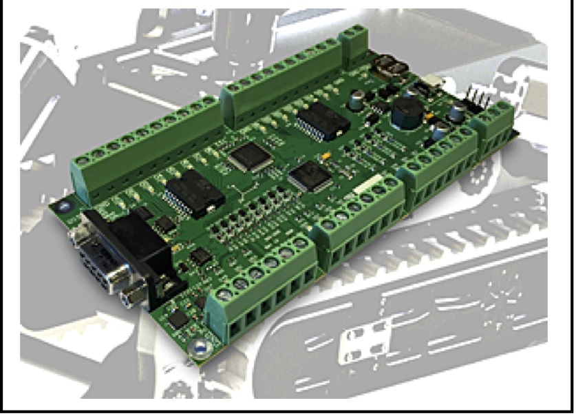 Roboteq's intelligent I/O module with IMU simplifies robot design