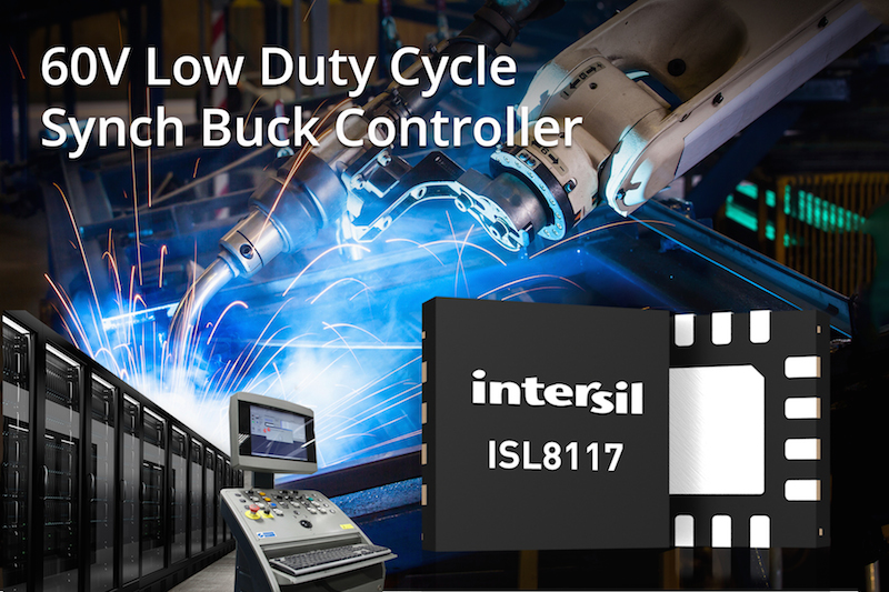 Intersil's latest 60V synchronous buck controller simplifies supply design