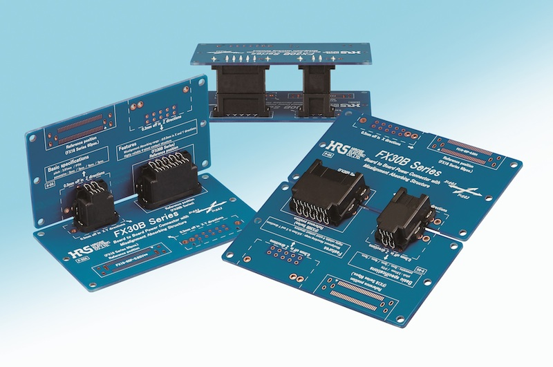 Hirose board-to-board connector family features floating alignment capability