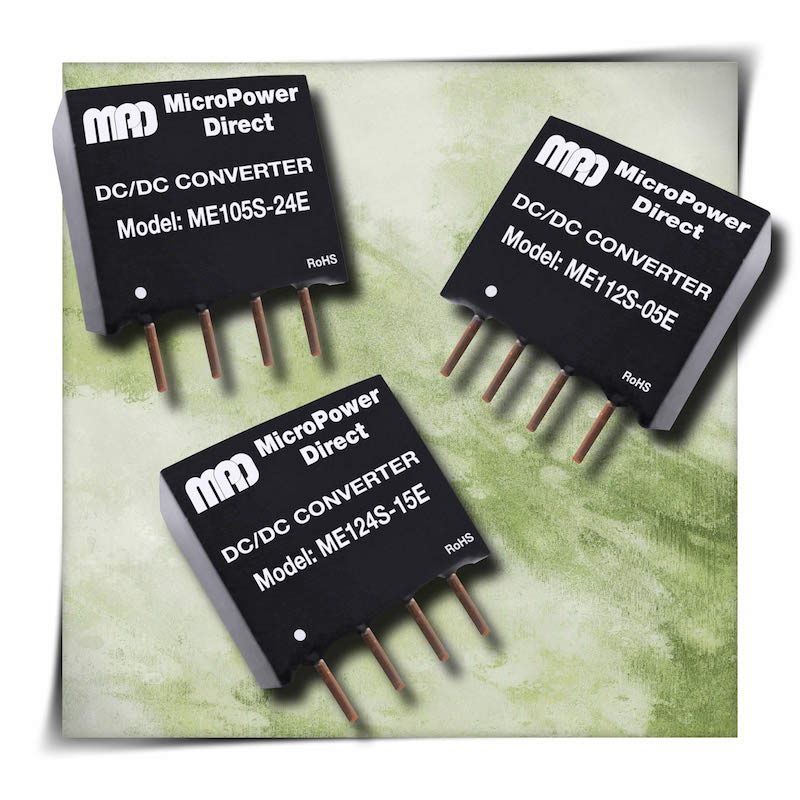 MicroPower Direct's safety-approved 1W SIP DC/DC converters tout low costs