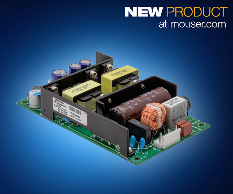 TDK-Lambda's 75W low-profile triple-output CUT75 AC/DC power supplies now at Mouser