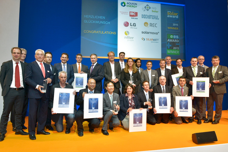 Intersolar award 2015 winners announced