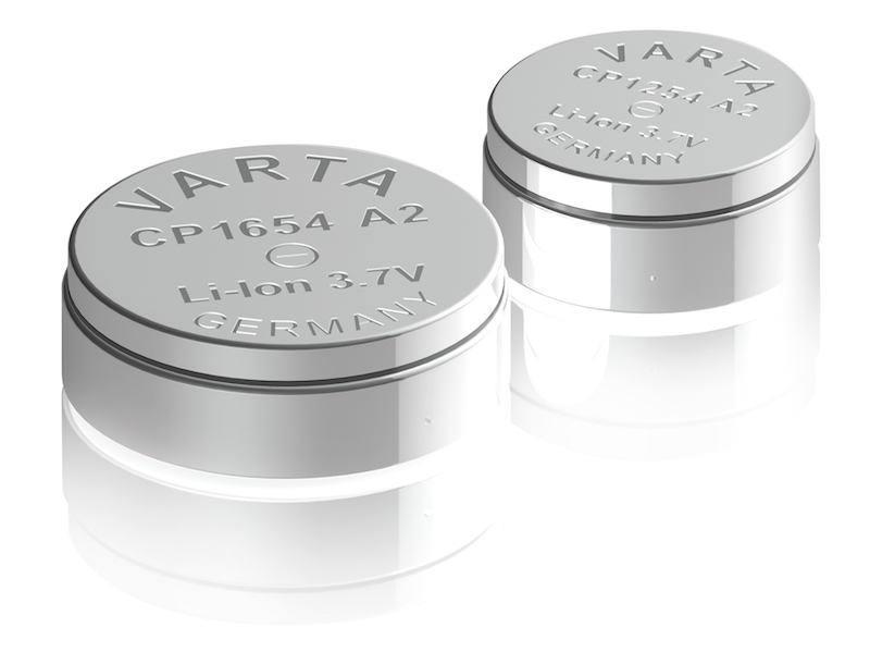 VARTA CoinPower Li-Ion rechargeable micro batteries target IoT and Wearables