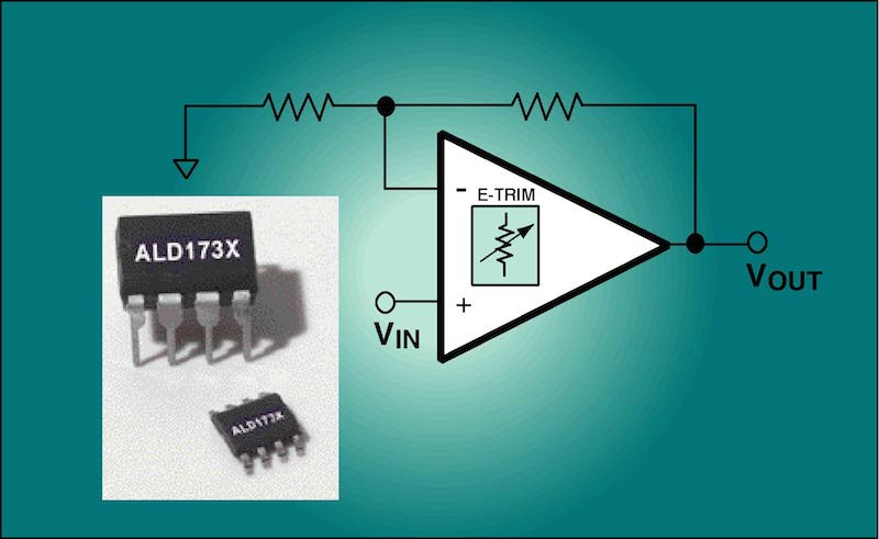 ALD's economical precision CMOS op-amps provide low input leakage current