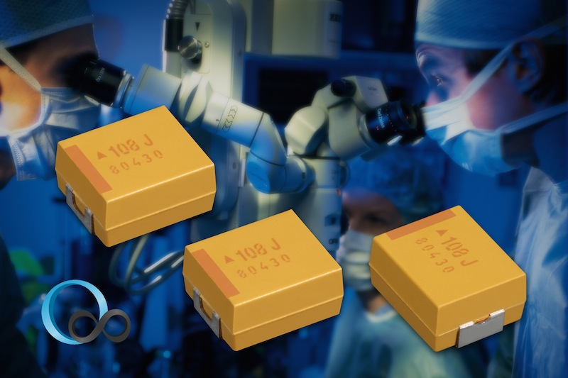 AVX's high reliability, low DCL tantalum SMT capacitors serve medical apps