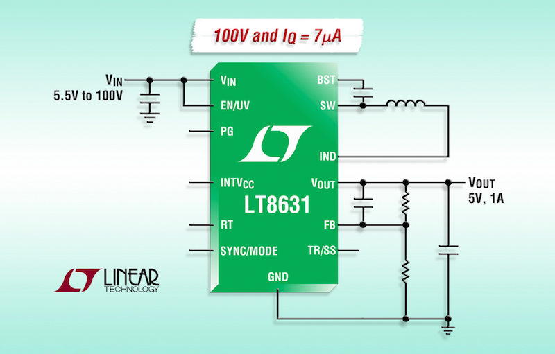 Linear's latest synchronous step-down regulator needs only 7ÂμA of quiescent current