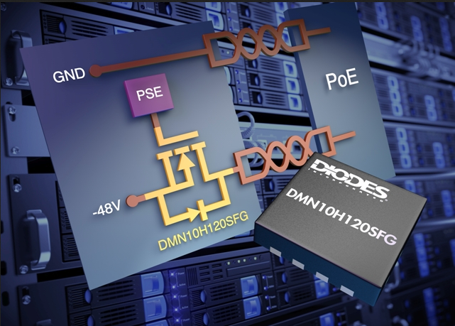 Diodes' 100V MOSFETs are optimized for PoE apps