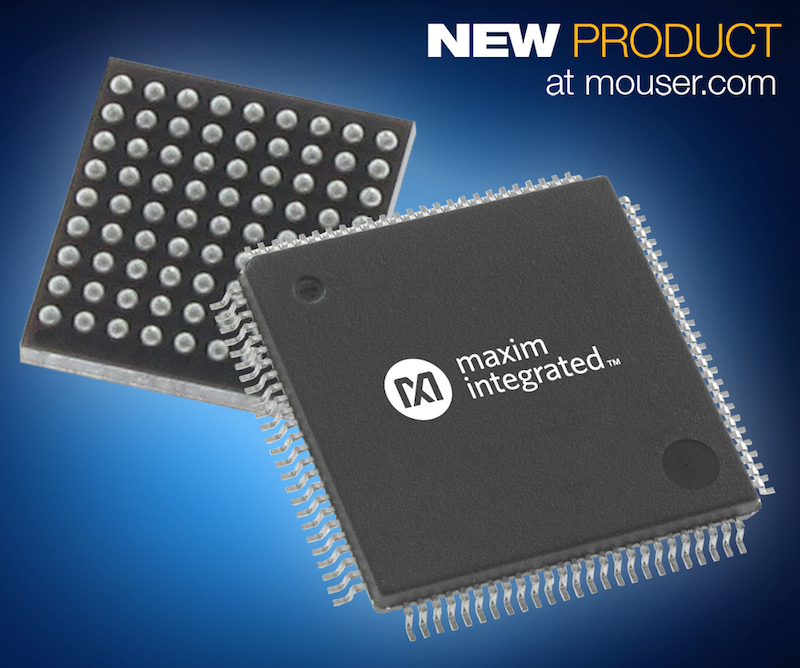 Maxim Integrated's  small, low-power MAX3262x MCUs now at Mouser