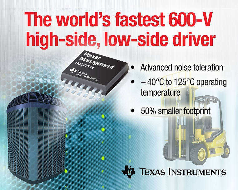 TI claims industry's fastest 600-V gate driver