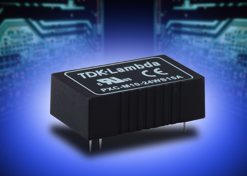 TDK's medically-certified low-power DC/DC converters have a 4:1 input range
