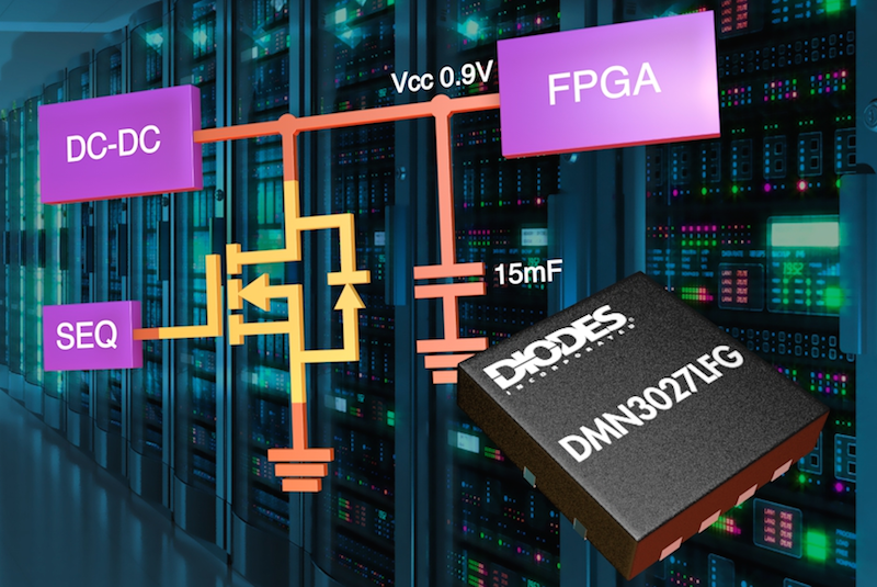 Diodes' 30V MOSFET enables rapid and safe discharge of bulk caps on FPGA power rails