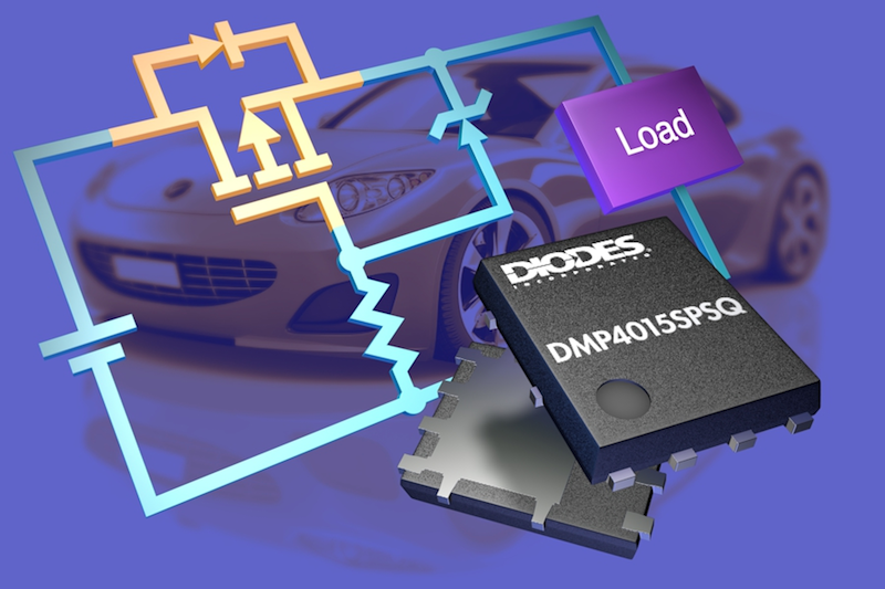 Diodes' automotive MOSFETs protect vehicle ECUs against reverse-polarity battery connections