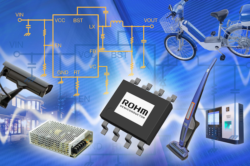 ROHM releases ultra-high-efficiency 76V DC/DC buck converter