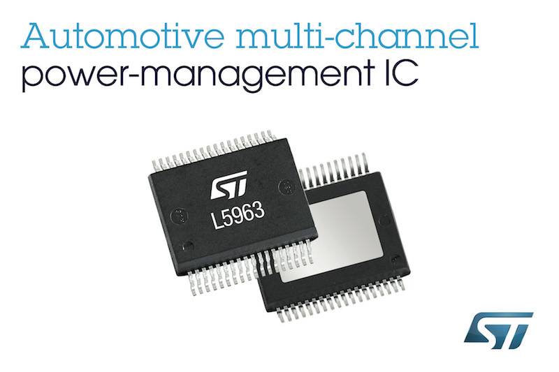 STMicro's automotive multi-regulators reduce size and cost of car infotainment