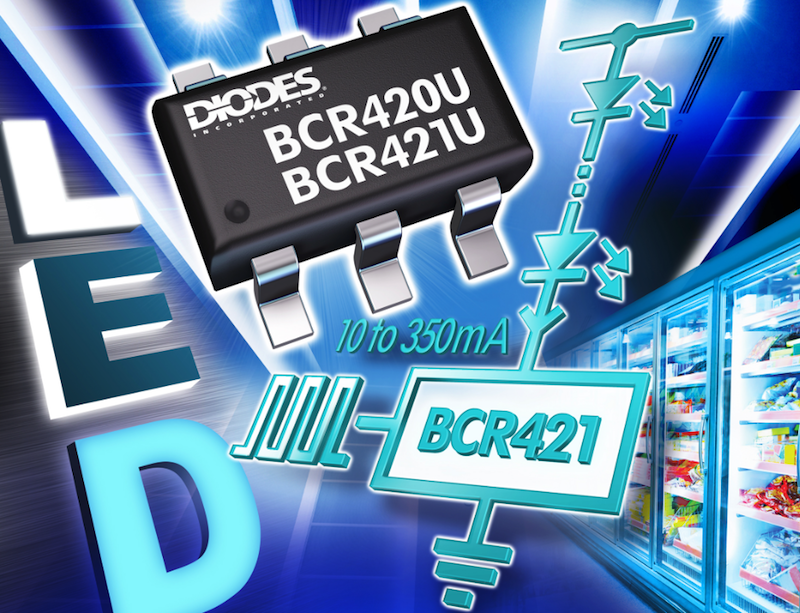 Diodes' adjustable current regulators simplify driving LED strips