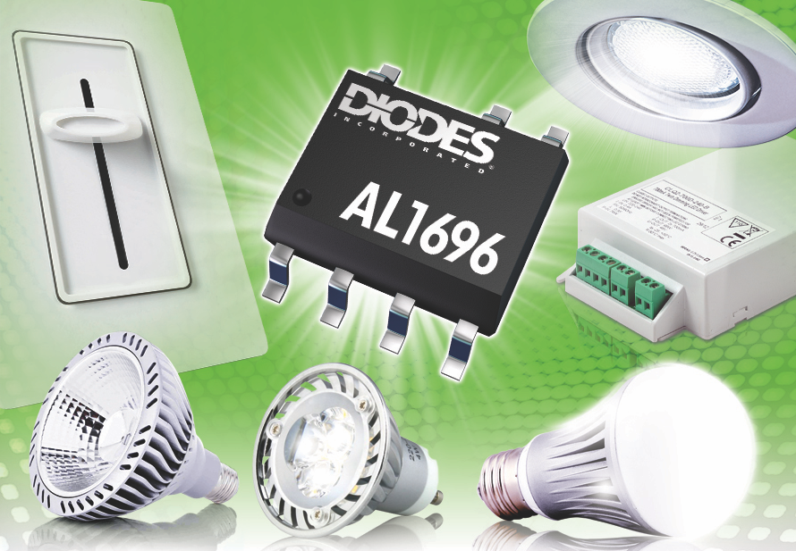 Diodes' dimmable LED driver delivers wide triac compatibility
