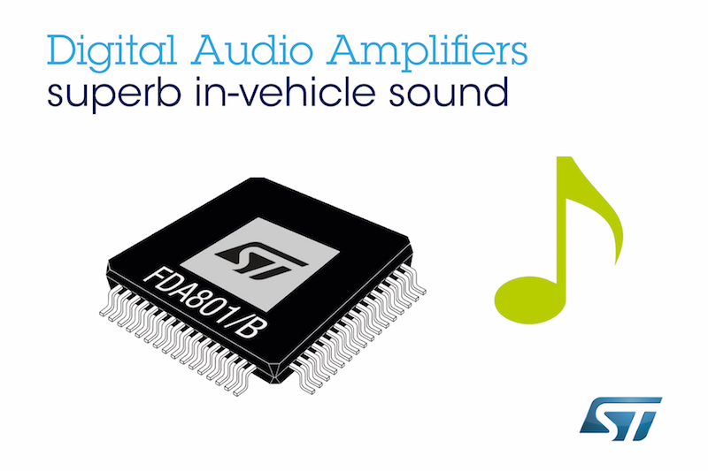 STMicros' latest digital power amplifiers for car audio simplify system design