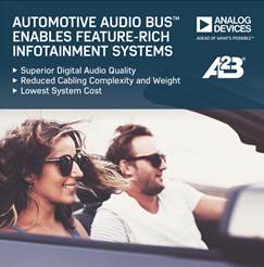 Ford selects ADI's Automotive Audio Bus