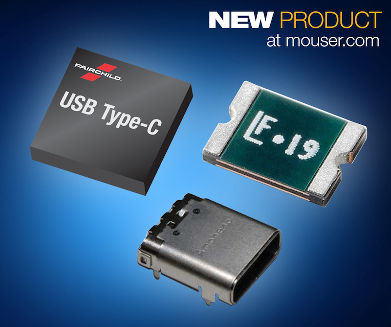 Mouser, Fairchild, Littelfuse, and Amphenol team up for building blocks for USB Type-C
