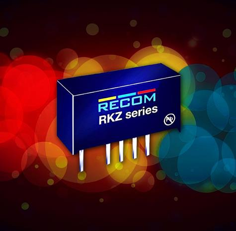 RECOM's RKZ high-isolation DC/DC converters target high-end industrial, transport ,and medical apps