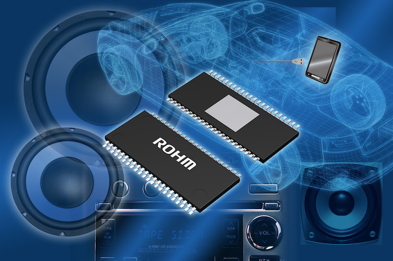 ROHM's new high-efficiency system power IC suits car audio