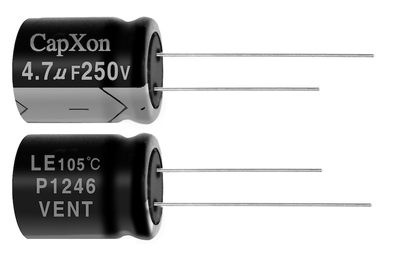 CapXon's LE series electrolytic caps offer high reliability and ultra-long life in LED apps