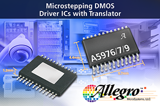 Allegro launches their latest family of microstepping motor-driver ICs