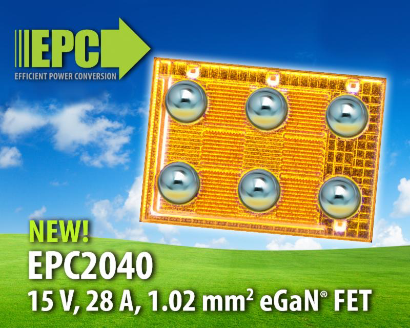 EPC's latest eGaN power transistor empowers augmented reality and autonomous vehicle Apps