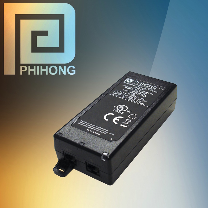 Phihong unveils a family of 30W, single-port PoE midspans