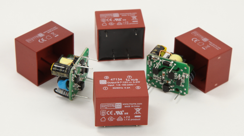 Myrra plug-and-play encapsulated supplies for low-power apps now at JPR Electronics