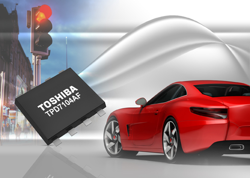 Toshiba's automotive high-side N-channel power MOSFET gate driver can block reverse current flow