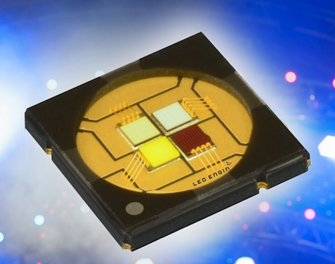LED Engin doubles the flux density in tiny RGBW emitters